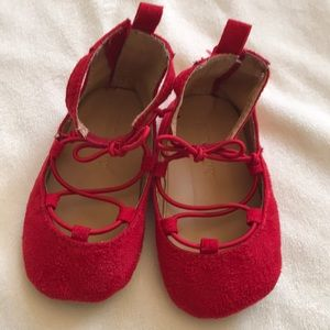 Sweet red ballet shoes
